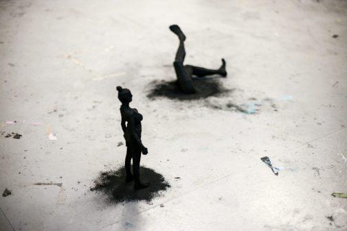 Shadows | Charcoal and cardboard